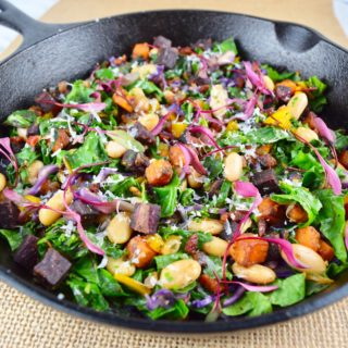 Sweet Potato, White Bean & Rainbow Chard Hash