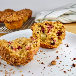 Apple Cranberry Streusel Muffins