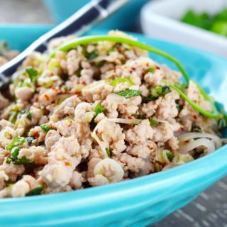 Turkey Larb with Asian Slaw