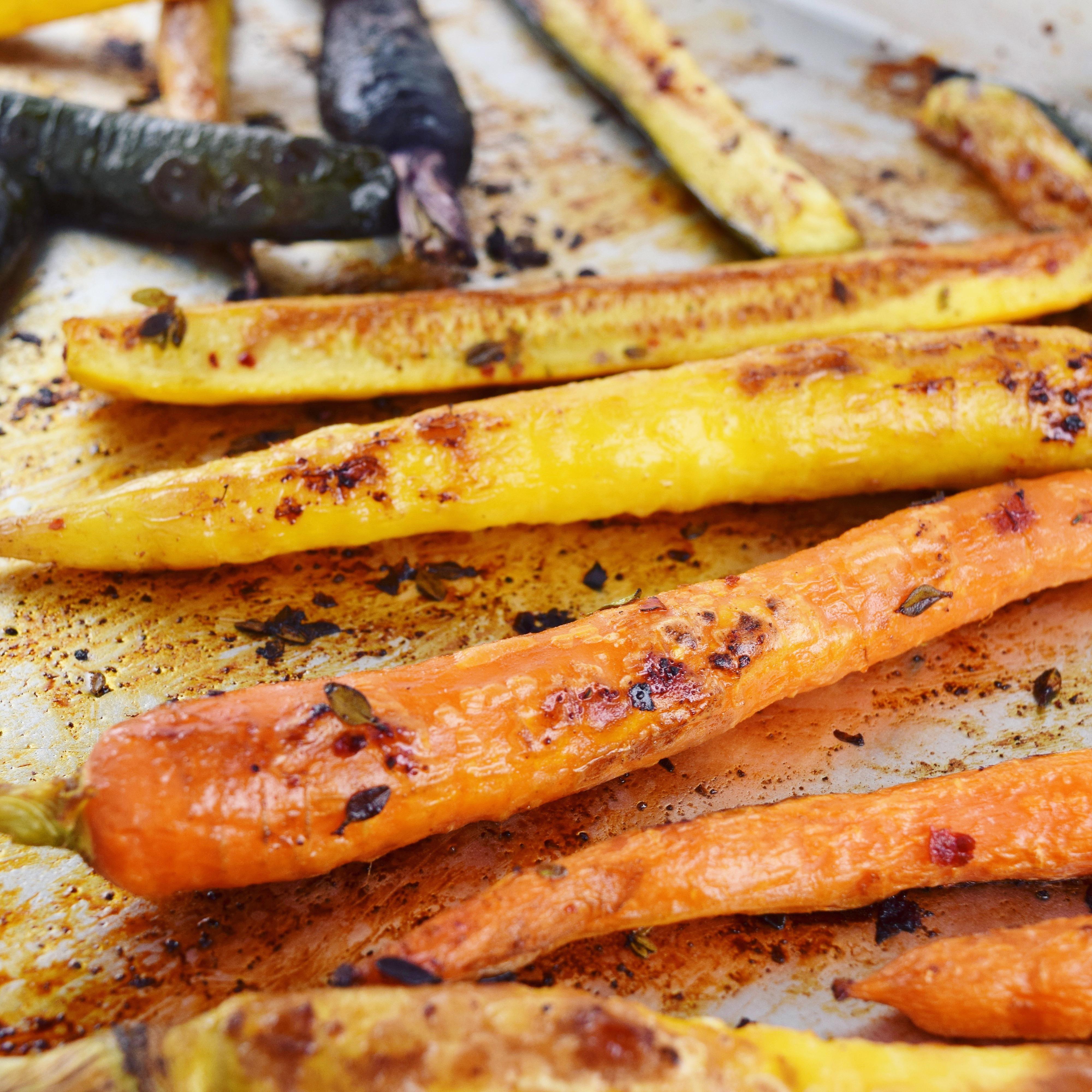 Roasted Carrots Zucchini Good Health Gourmet