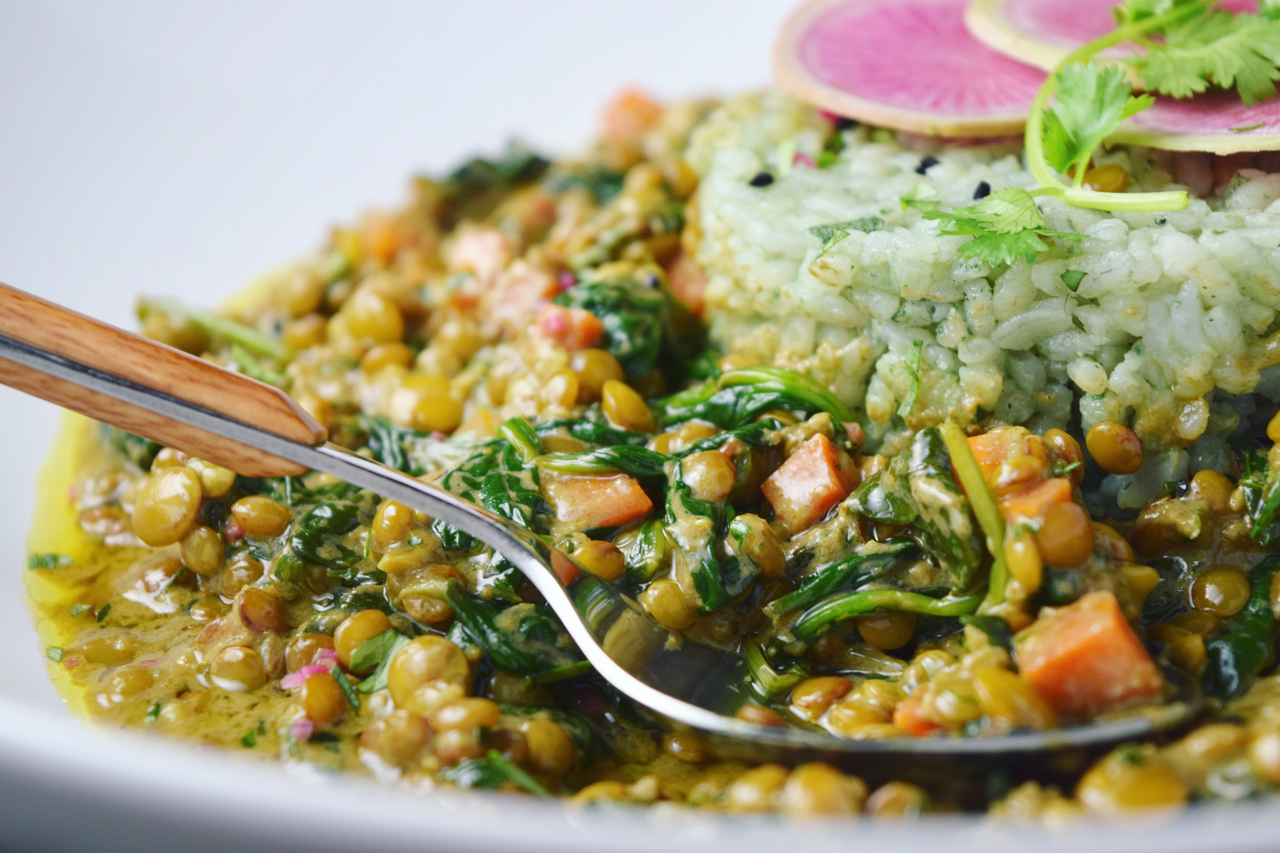 Coconut Curried Lentils With Spinach Good Health Gourmet